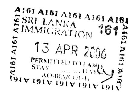 emigration and immigration: passport stamps