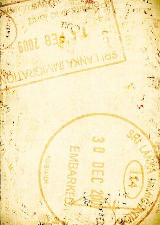 pasaporte: sellos de pasaportes