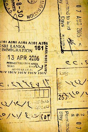 passport stamps photo