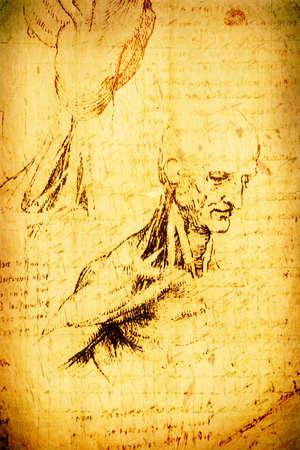 Photo of the  Mans body by Leonardo Da Vinci  photo