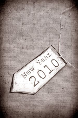 Close up of paper tag with 2010 Stock Photo - 5803642