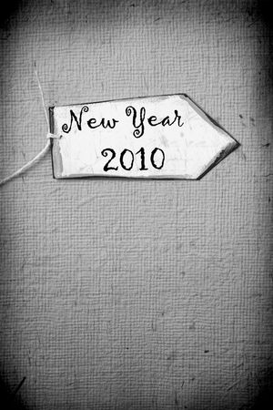 Close up of paper tag with 2010 Stock Photo - 5803630