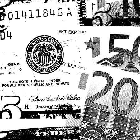 payoff:  Euro and US dollar Stock Photo