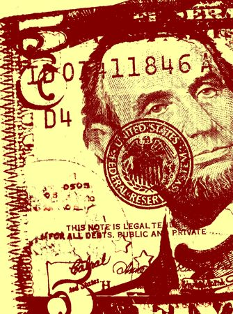 payoff: US dollar with old textured paper  Stock Photo