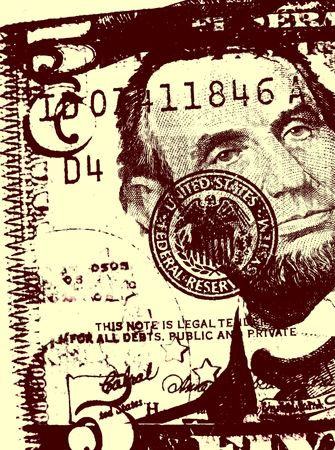 payoff: US dollar with news paper text
