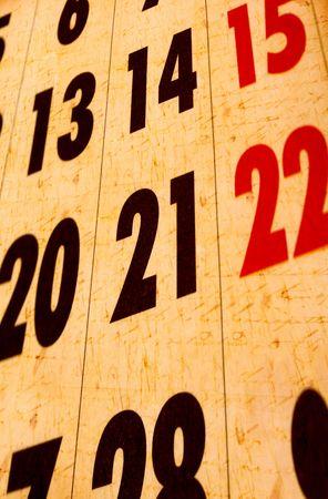 Close up of a calendar Stock Photo - 5986256