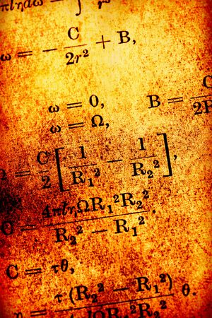 Close up of old  mathematics book  photo