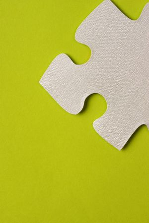puzzle with green background photo