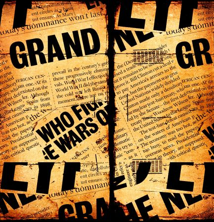 News paper text with old paper Stock Photo - 6157129