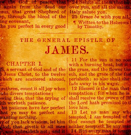 james: Close up of old Holy bible book Stock Photo
