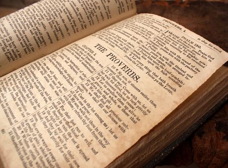 bible book: Close up of old Holy bible book Stock Photo
