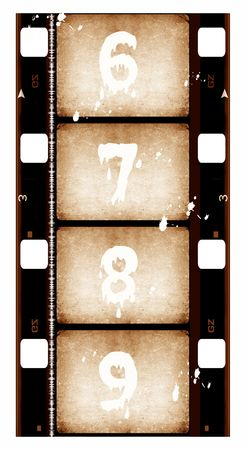 photo collage: Close up of 16 mm Film roll