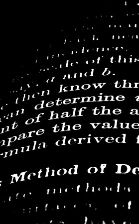 mathematical proof: Close up of old mathematics book