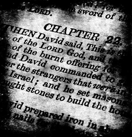 Close-up van de oude Heilige Bijbel boek  Stockfoto