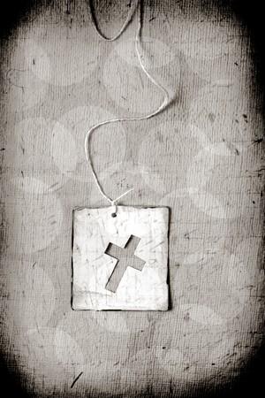 nazareth: Close up of Handmade paper tag Stock Photo