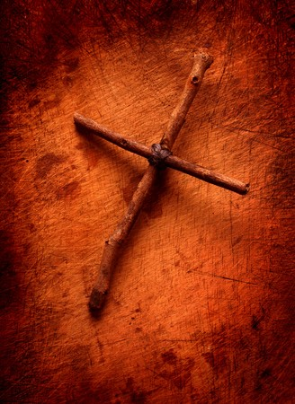 redemption: Close up of handmade paper  Holy cross
