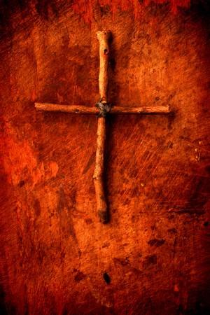 nazareth: Close up of handmade paper  Holy cross