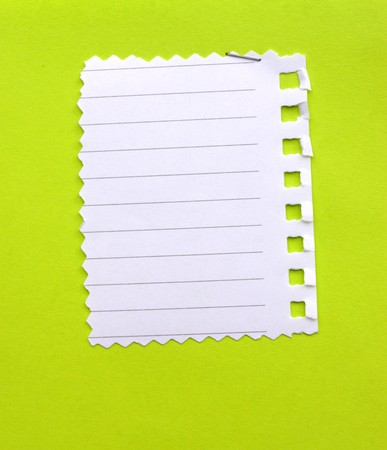 Close up of note paper for background photo