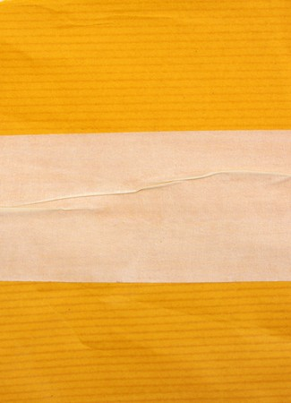 tear duct: Masking tape with paper for background