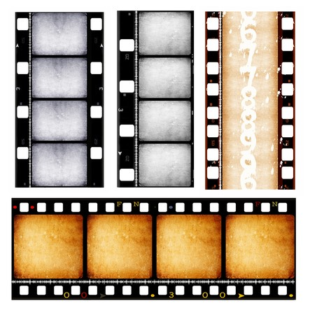 Close up of film strips photo