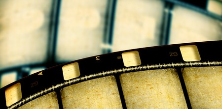 Close up of vintage movie film strips Stock Photo - 7546510
