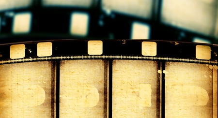 Close up of vintage movie film strips Stock Photo - 7584792