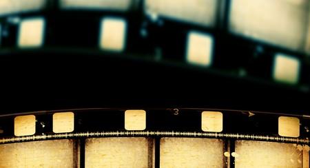 movie pelicula: Close up de tiras de pel�cula pel�cula vintage  Foto de archivo