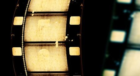 cinema old: Close up delle strisce di pellicola di film d'epoca