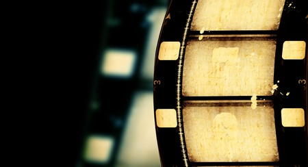 film roll: Close up of vintage movie film strips Stock Photo