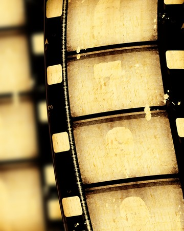 Close up of vintage movie film strips Imagens
