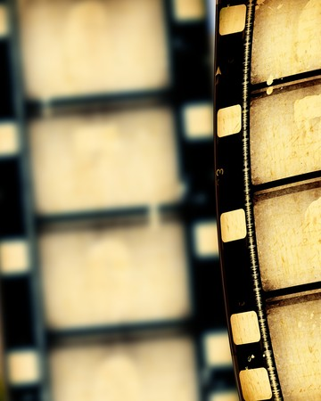 Close up of vintage movie film strips Stock Photo - 7584787