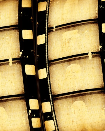 Close up of vintage movie film strips Stock Photo - 7546560
