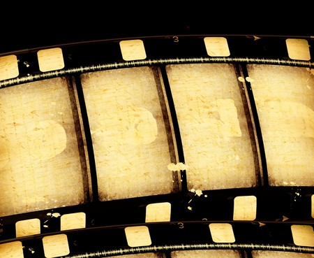 paper strip: Close up of vintage movie film strips Stock Photo