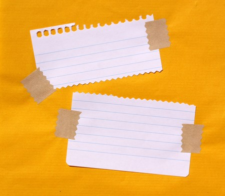paper clip: Close up of note paper for background Stock Photo