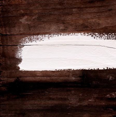 Close-up van hout met penseel lijnen