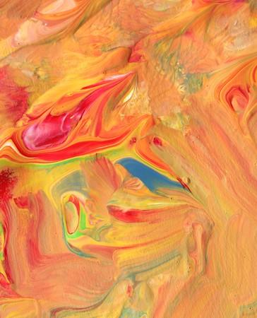Close-up van kleurrijke inkt penseel lijnen
