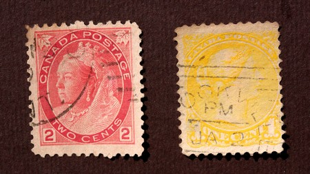 Close up of ancient old postal stamps Stock Photo - 7588228