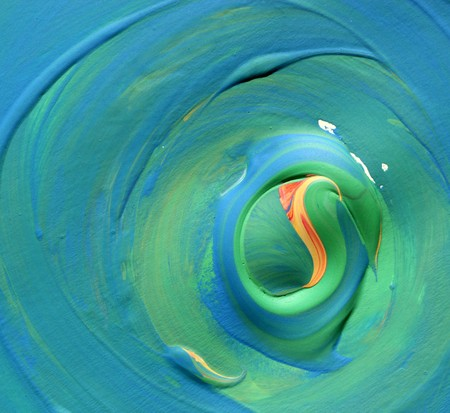 Close up of abstract hand painted art photo