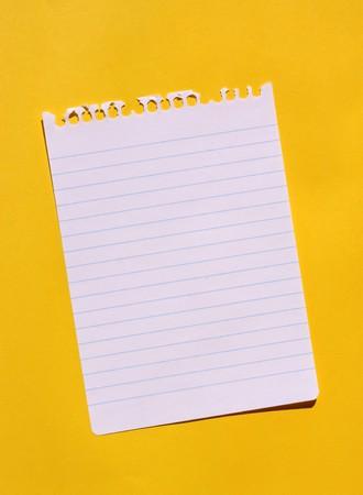 Cierre de papel de nota para el fondo