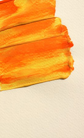 Close up of color  paint  brush lines photo