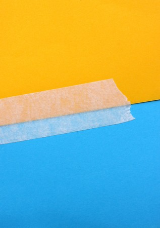 Close up of masking tape with paper Stock Photo - 7767810