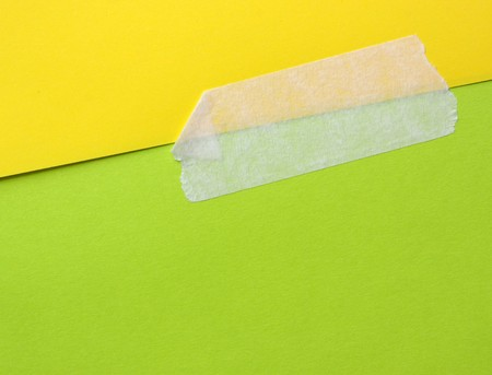 Close up of masking tape with paper  photo