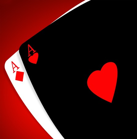 ace of diamonds: Aces on a gradient background Stock Photo