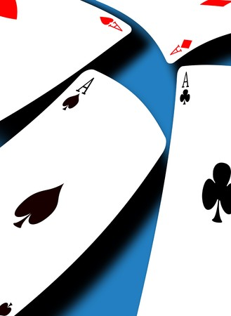Aces on a gradient background Stock Photo - 8056785