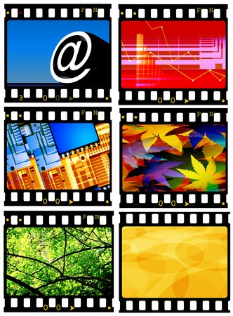 Close up of vintage movie film strips Stock Photo - 8056812