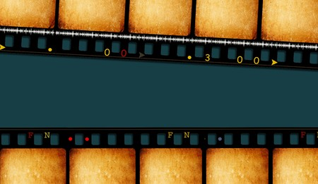 Close up of vintage movie film strips Stock Photo - 8056815