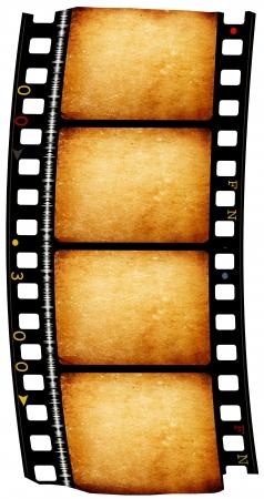 Close up of vintage movie film strip photo