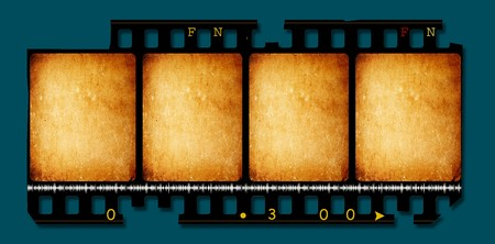 Close up of vintage movie film strips Stock Photo - 8056814
