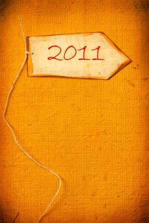 Vintage background with 2011 new year  photo