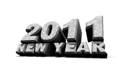 New year 2011 , 3D art photo